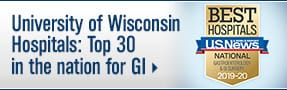 University of Wisconsin Hospitals: Top 30 in the nation for GI