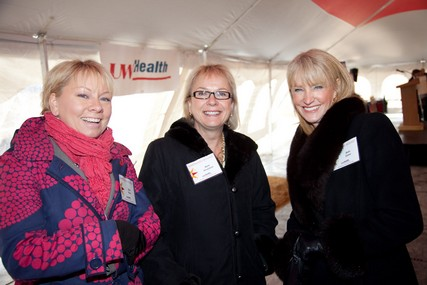 Beth Blum, UW Health Public Affairs; Beth Houlahan, senior vice president, Patient Care Services, and Chief Nursing Officer; and Beth Zaher, vice president, Marketing and Public Affairs, are all smiles.