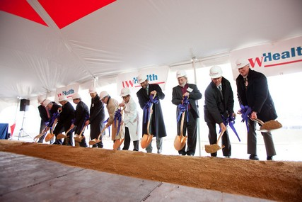 The ceremonial shovels are in the ground, starting construction of UW Health at The American Center.
