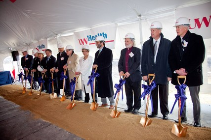 The groundbreaking ceremony for UW Health at The American Center was held April 9, 2013, on Madison's east side.