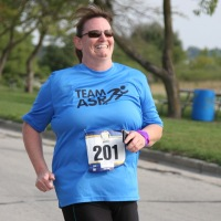 Barb Meister completing her first 5K