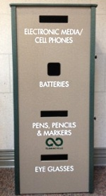 UW Health recently installed four-tiered multi-recycling stations at our larger facilities.