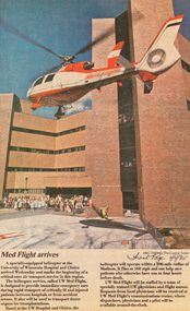 After much preparation at UW Hospital and Clinics and with partnering hospitals and emergency responders, UW Med Flight began providing service on April 22, 1985. The first aircraft was a single engine Dauphin.