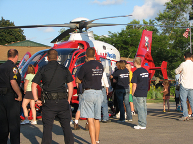 Med Flight helicopters and crew attend community events throughout the year, working to educate everyone from young adults about the dangers of drinking and driving to preschoolers about the benefits of eating vegetables.