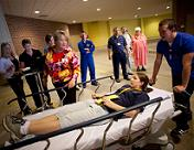 UW Hospital and Clinics disaster drill: Patients and doctors in the emergency room