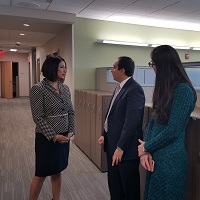 Dr. Alaa Abd-Elsayed visits with legislators