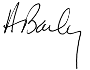 Dr. Howard Bailey's signature