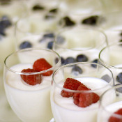 Among the offerings at the Healthy Hospitals and Clinics Forum was a fruit and yogurt parfait.