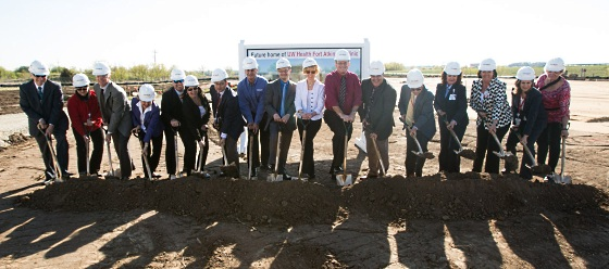 The groundbreaking at the Fort Atkinson Clinic