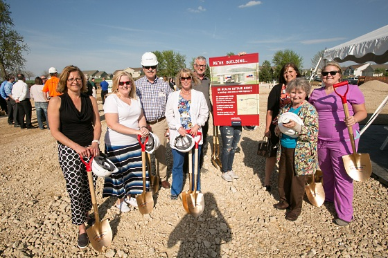 Scene from the groundbreaking ceremony at the new UW Health Family Medicine Clinic in Cottage Grove.