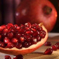Pomegranate hummus is a delicious and healthy snack idea