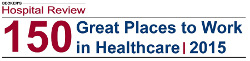 Becker's Hopital Review 150 Great Places to Work in Healthcare 2015