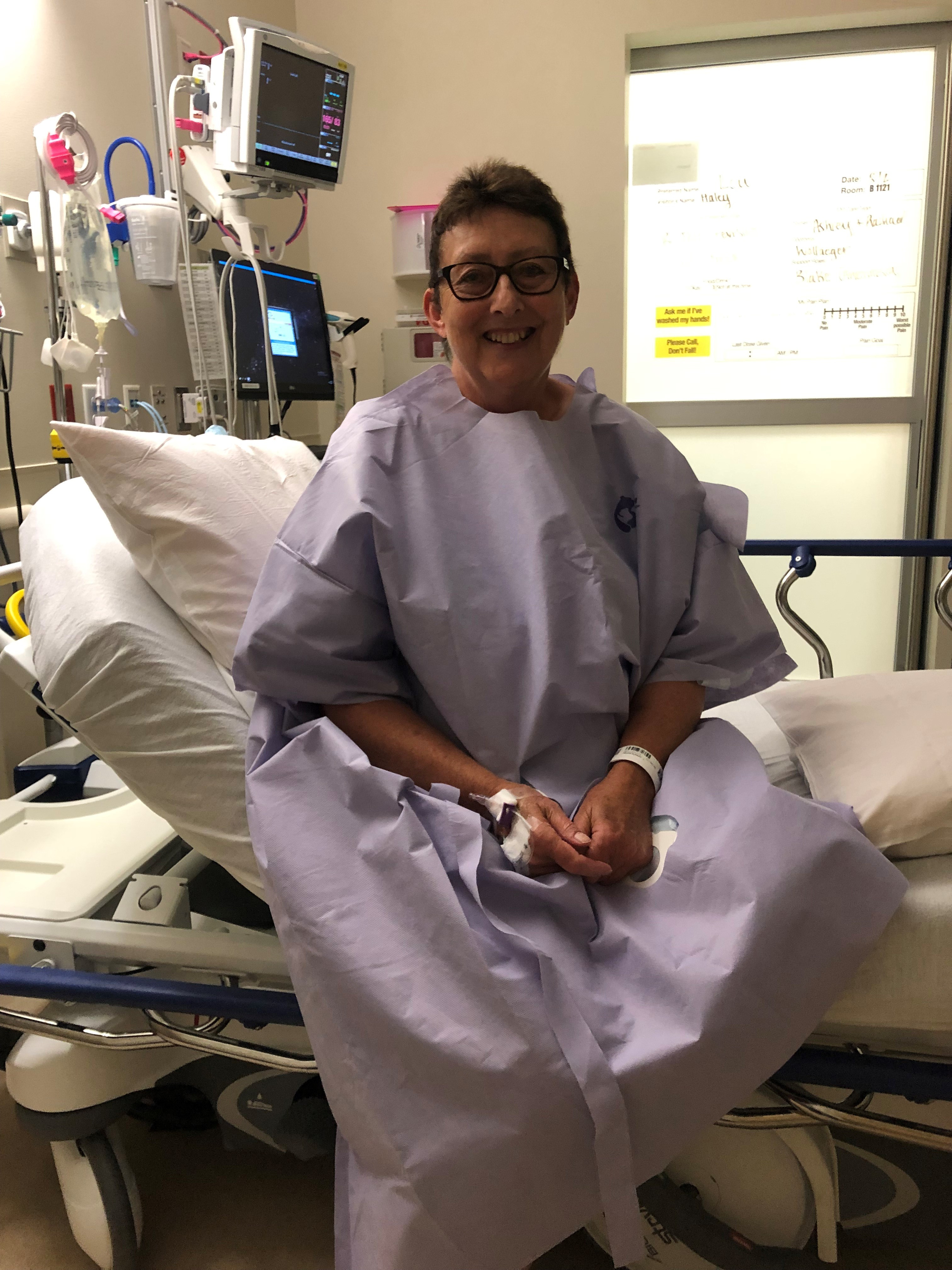Mary Lou Madden has a positive outlook on life. She has had two knee replacements and recently underwent knee revision surgery with Dr.John K. Wollaeger.