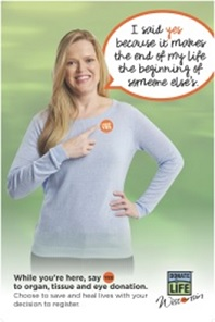 UW Health employee Amanda White featured in the Everyday Heroes campaign to raise awareness about organ donation.
