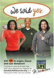 "DMV Donation Awareness Campaign ""We Said Yes"""