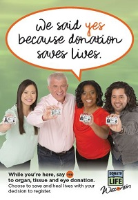 Donate Life Wisconsin created a campaign in partnership with the Wisconsin DMV to promote organ donation.