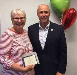 Kay Anderson is a dedicated volunteer for UW OTD who was recognized with an Award of Excellence