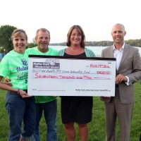 The Rath Family presents a check from the 2014 Haily Rath Memorial
