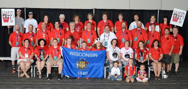 Team Wisconsin at the 2016 Transplant Games