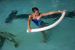 Noodles provide a pool-based fitness option that is particularly beneficial for core work.