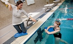 UW Health Sports Medicine Aquatic Center: instructor and swimmer