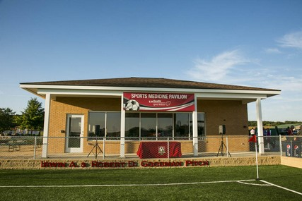 The Sports Medicine Pavilion is adjacent to the Irwin A. & Robert D. Goodman Pitch, which also recently opened for play.