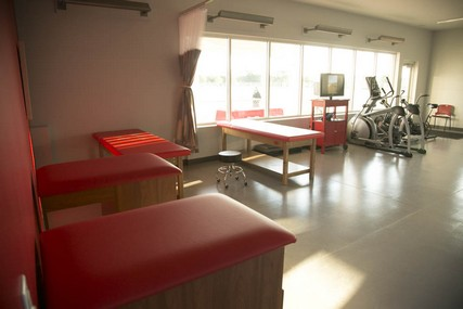 The 1,000-square-foot Sports Medicine Pavilion includes treatment tables and a temperature-controlled environment.