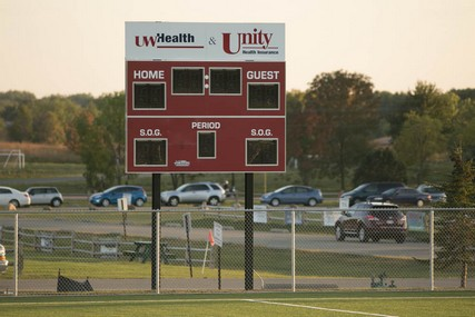 The Goodman Pitch scoreboard is jointly sponsored by UW Health and Unity Health Insurance.