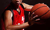 UW Health Sports Performance basketball training: Basketball player with basketball