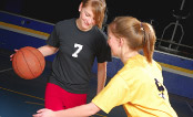 UW Health Sports Performance basketball training: Two girls playing basketball