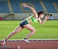 UW Health Sports Performance: A woman sprinting