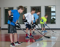 UW Health Sports Performance Preseason Hockey training: Boys practicing hockey