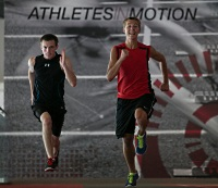 UW Health Sports Performance Speed Camps: Two boys sprinting