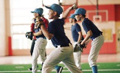 UW Health Sports Performance baseball training: Kids in a training class
