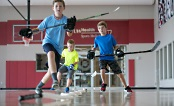 UW Health Sports Performance baseball training: Two kids playing basketball