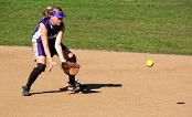 UW Health Sports Performance softball training: Girl fielding a ground ball