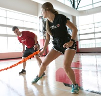 UW Health Performance Speed Strength training: Woman working on agility drills
