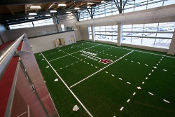 Our rehabilitation staff has access to the 13,000 square-feet of Field Turf™ at our American Center facility.