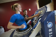 UW Health Sports Medicine Sports Rehabilitation: Physical therapist and patient