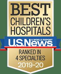 Best Children's Hospital - Ranked in 4 specialties 2019-2020