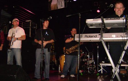 Phat Phunktion, a Madison band, on stage