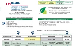 University Hospital patient guide billing information: Example of a bill
