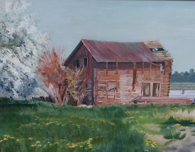 Homestead on Pflaum Road, by Donna Miller