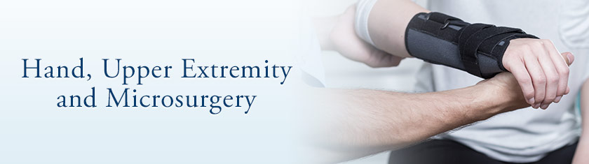 Hand, Upper Extremity and Microsurgery