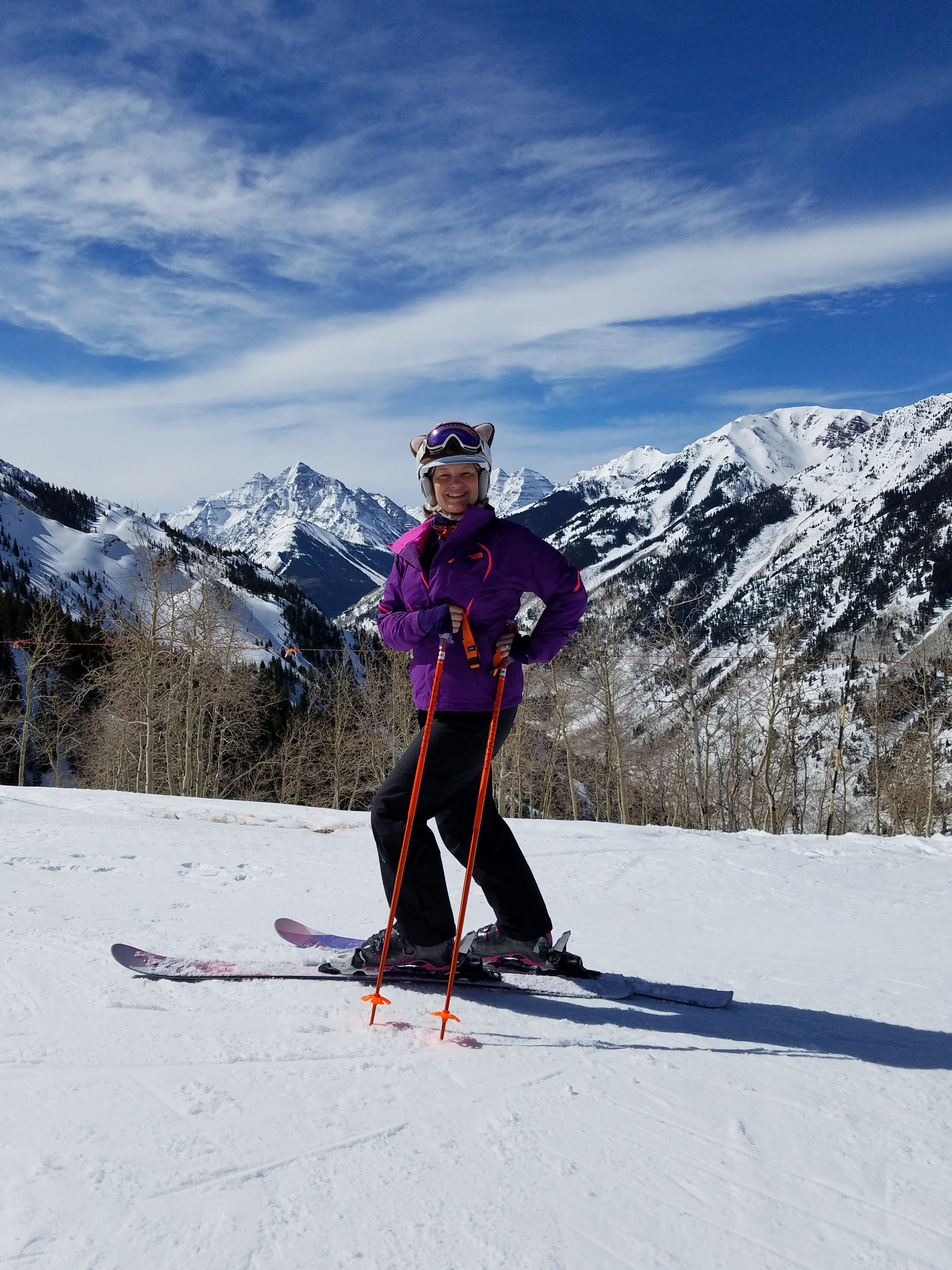 Martha Van Bendegom started skiing again just two months after herniated disc surgery.