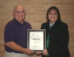 """Wisconsin Hero"" Ron Niendorf with Wisconsin First Lady Tonette Walker"