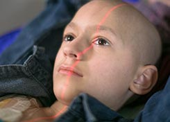 8-year-old Josie Perea prepares for her last of 20 radiation treatments for neuroblastoma
