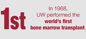 In 1968, the University of Wisconsin performed the world's first bone marrow transplant; UW's Campaign to End Childhood Cancer
