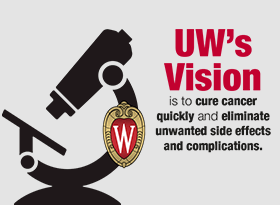 UW's vision is to cure cancer quickly and eliminate unwanted side effects and complications; University of Wisconsin's Campaign to End Childhood Cancer