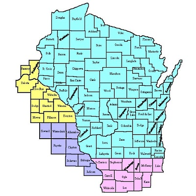 Chartwell Midwest Wisconsin Service Territory Map